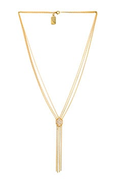 Lucky Star Shield Necklace in Gold