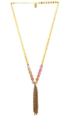 Lucky Star Sequin Gumball Necklace in Peach