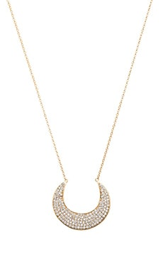 Lucky Star Smiling Moon Necklace in Gold