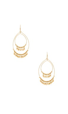 Lucky Star Boheme Hoop Earring in Gold