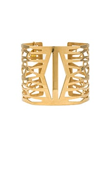Lucky Star Totem Cuff in Gold