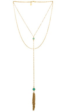 Lucky Star Utopia Necklace in Gold & Aquamarine