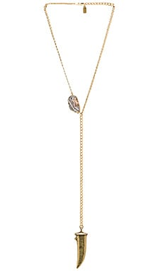 Lucky Star Sawyer Necklace in Gold & Clear