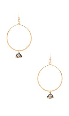 Lucky Star Catalina Hoop Earrings in Gold & Smoke