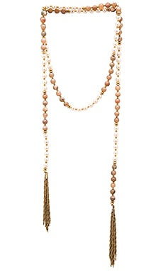 Lucky Star Gypset Tassel Wrap Necklace in Mother of Pearl