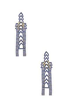 Crystal Chain Earrings LARUICCI $176