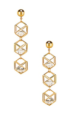 Caged Gem Earrings LARUICCI $95