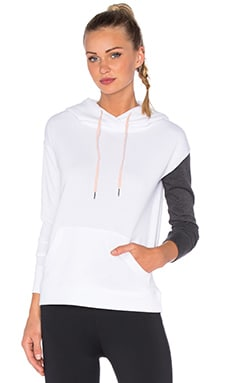 lukka lux Biome Blocked Hoodie in Optic White