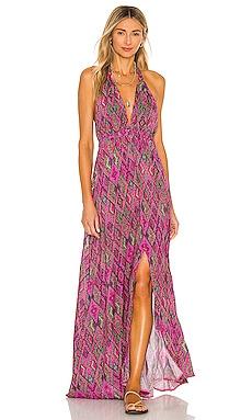 Vamos A Cabos Halter Dress Luli Fama $165 NEW