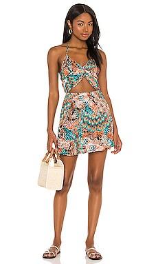 Untamed Halter Dress Luli Fama $165