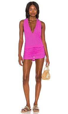 X REVOLVE Cosita Buena T Back Mini Dress Luli Fama $90 NEW