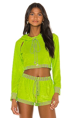 Cut Out Cropped Hoodie Luli Fama $95