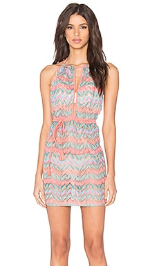 Luli Fama Fuego Divino Front Row Mini Dress in Multicolor