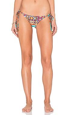Luli Fama Wild & Free Ruched Bikini Bottom in Multicolor