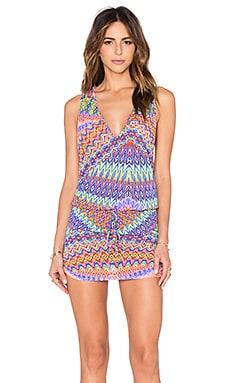 Luli Fama Free Love T-Back Mini Dress in Multicolor