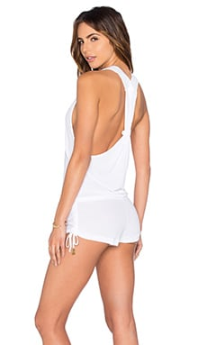 Cosita Buena T-Back Romper in White