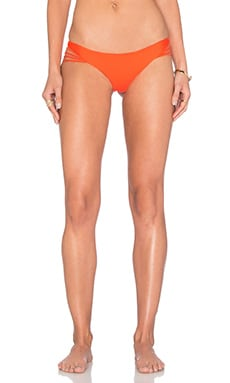 Luli Fama Verano de Rumba Strappy Buns Out Bikini Bottom in Flame