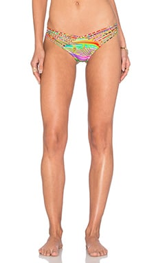 Dreamin Strappy Brazilian Ruched Bikini Bottom