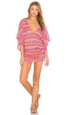 Song Of The Sea Cabana V Neck Dress in Multicolor