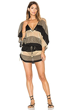 Warrior Spirit Cabana Dress in Black & Gold