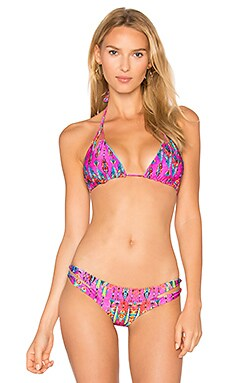 X REVOLVE Reversible Zig Zag Triangle Top in Magenta