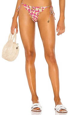 Desert Angel Reversible Wavy Ruched Back Brazilian Bottom Luli Fama $92 NEW ARRIVAL