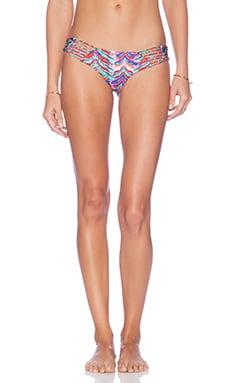Luli Fama Besos de Sal Strappy Bikini Bottom in Multicolor