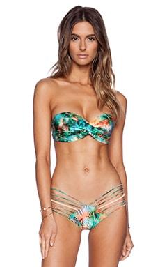 Luli Fama Miami Nice Bandeau Bikini Top in Multicolor