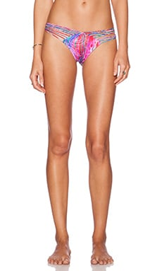 Luli Fama Amanecer Strappy Bikini Bottom in Multicolor