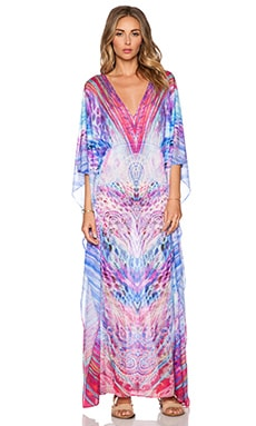Luli Fama Amanecer Long Caftan in Multicolor