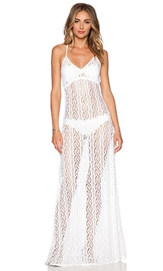 Luli Fama Amor Marinero Maxi Dress in White