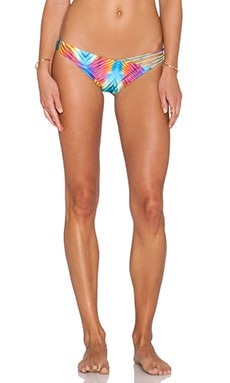 Luli Fama Playa Verano Multi Strap Bikini Bottom in Multicolor
