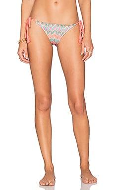 Luli Fama Fuego Divino Tie Side Bikini Bottom in Multicolor