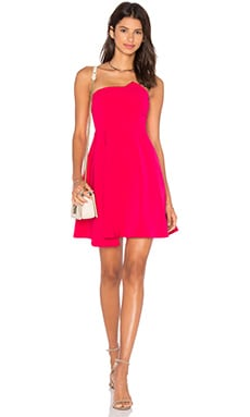 Stop & Believe Fit & Flare Dress em Magenta