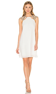 Shine On Shift Dress in White