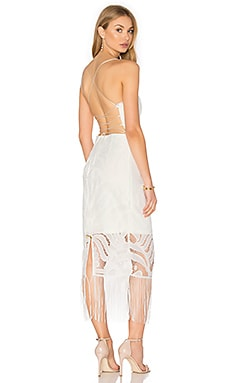 Lumier Bohemian Tie Back Dress in White & White Lining