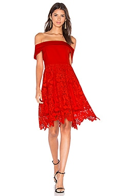 Lumier Make Me Wonder Dress in Red