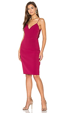 In The End Side Lace Up Dress in Mulberry