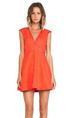 Lumier Last Chance Fit and Flare Mini Dress in Red