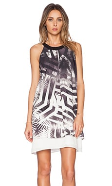 Lumier Return To Paradise Swing Dress in Ombre Palm Print