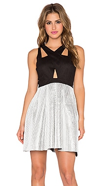 Lumier Editors Pick Me Fit & Flare Dress in Black & Silver