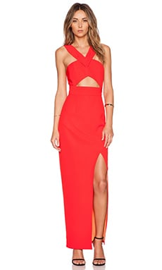 Lumier Flamboyant Flame Maxi Dress in Red