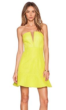 Visual Language Bustier Dress in Yellow