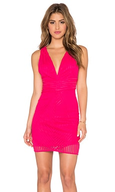 Lumier On the Borderline Stripe Deep V Dress