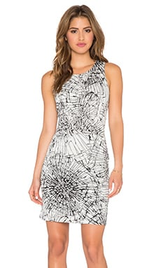 Lumier Shadowplay Mini Dress in Black Scribble Print