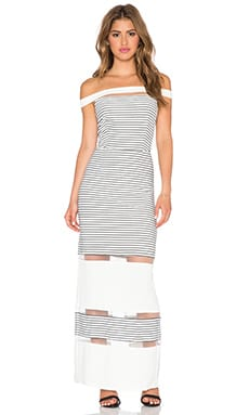 Lumier Draw the Line Maxi Dress in White