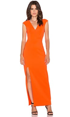 Lumier Dream Catcher Cap Sleeve Maxi Dress in Orange