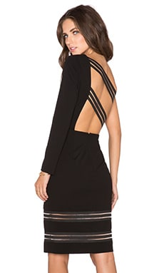 Lumier Strap Yourself In One Sleeve Dress in Black