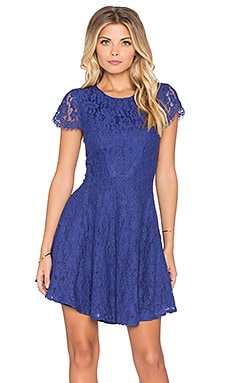 Lumier Miss Mademoiselle Lace Fit & Flare Dress in Ink