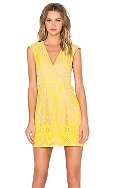 Lumier Carnival Dress in Yellow & Nude